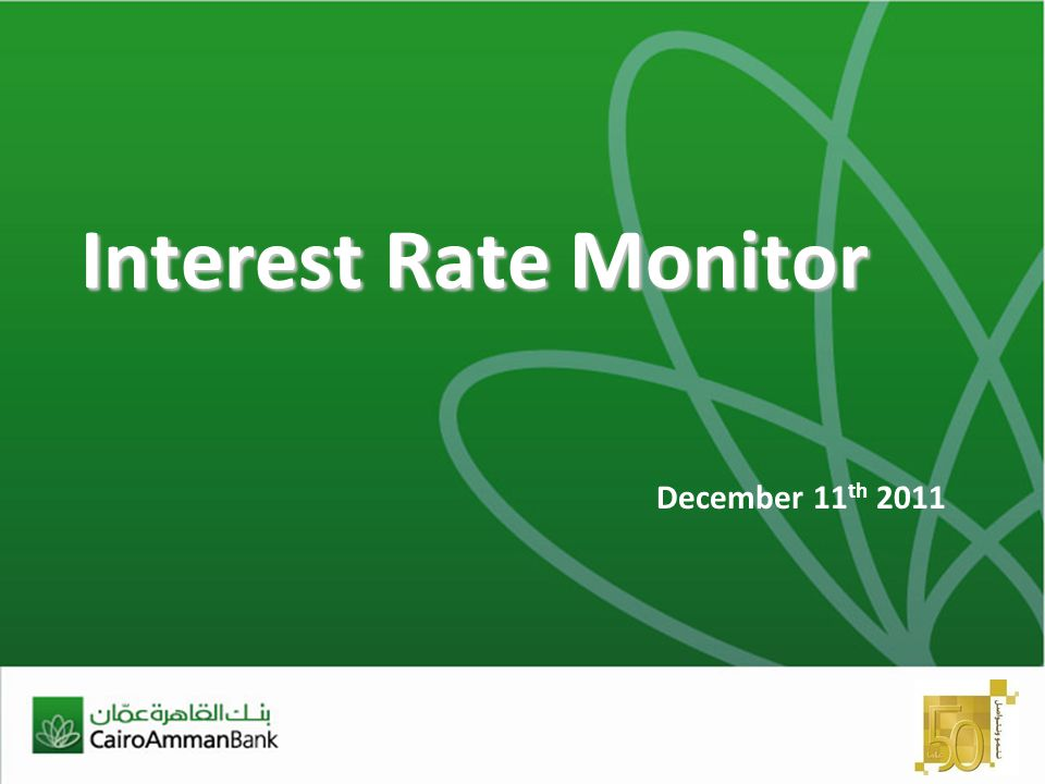 Interest Rate Monitor December 11 th 2011