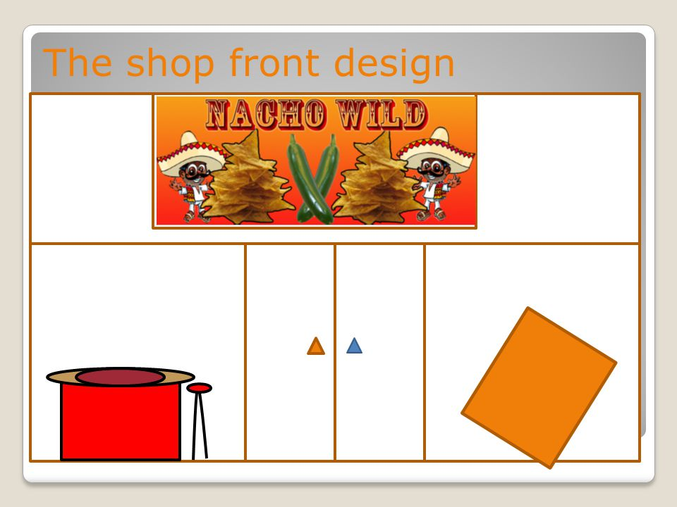 The shop front design