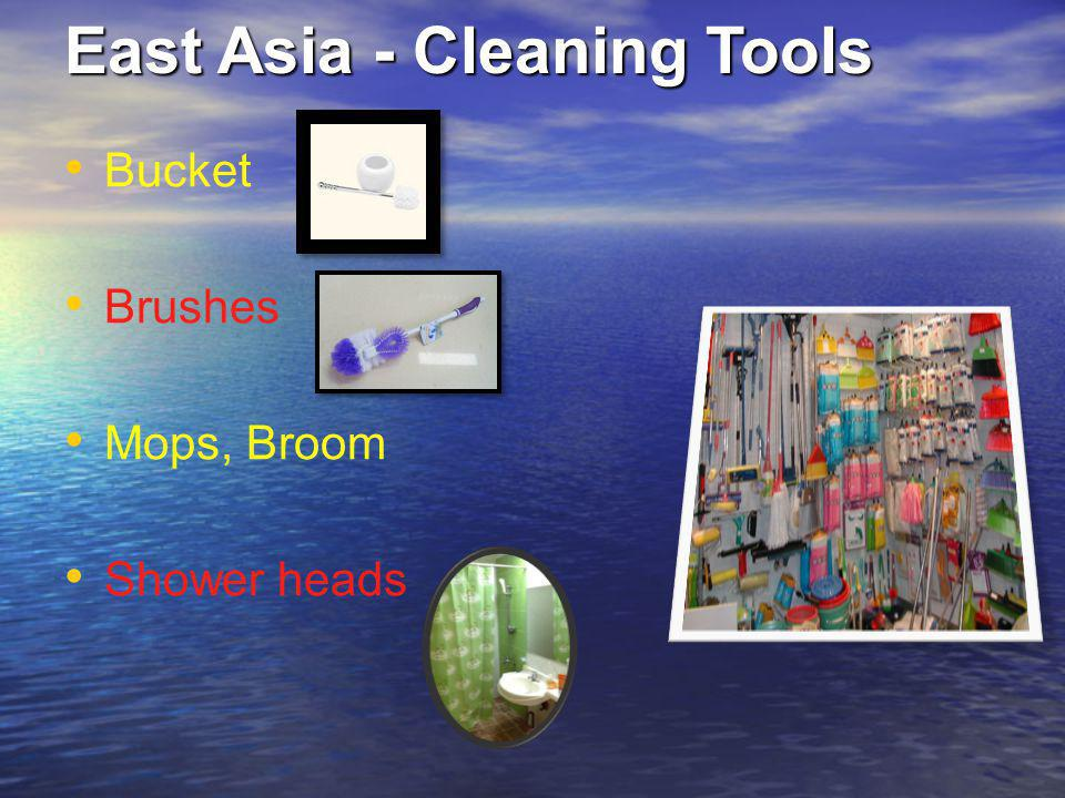 East Asia - Cleaning Tools Bucket Brushes Mops, Broom Shower heads