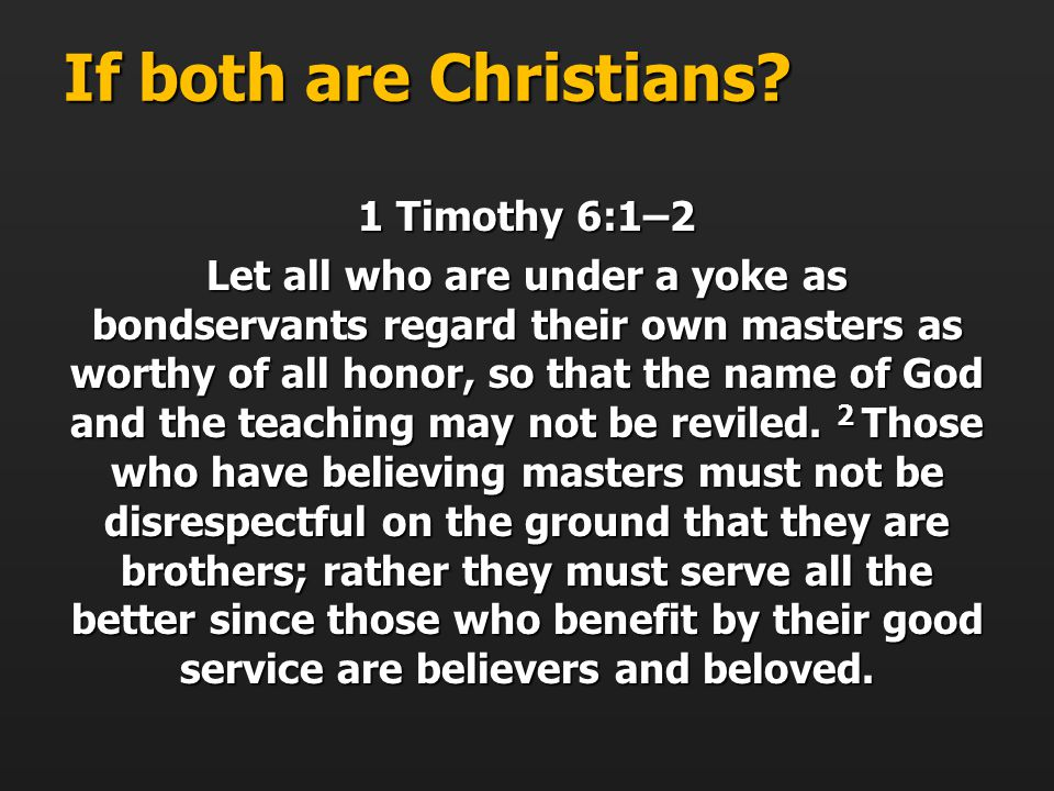 If both are Christians.