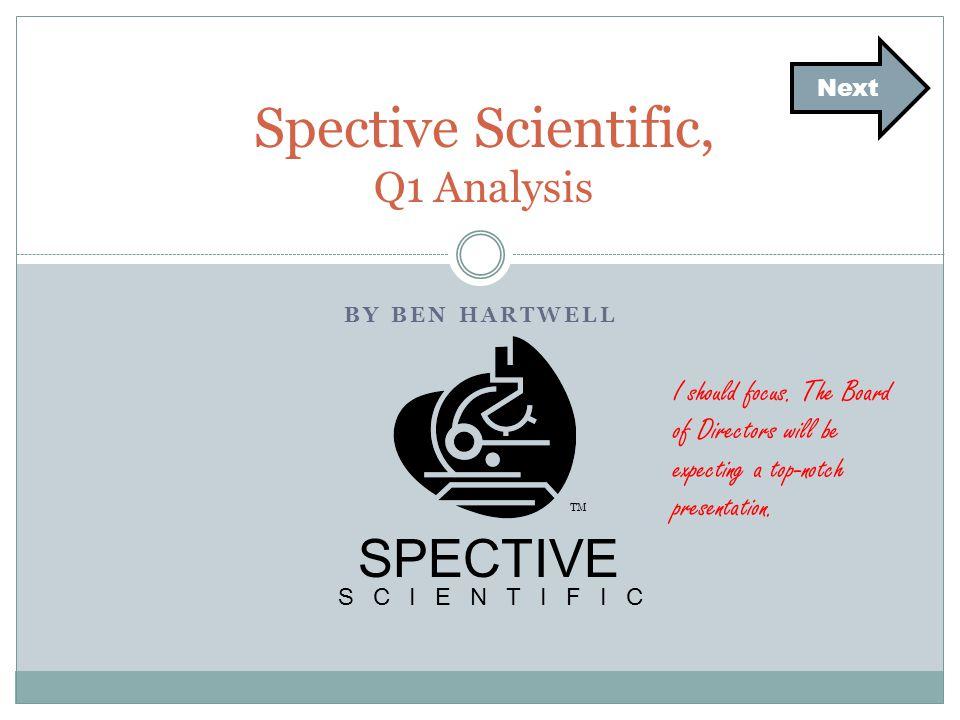 BY BEN HARTWELL Spective Scientific, Q1 Analysis Next SPECTIVE SCIENTIFIC TM I should focus.