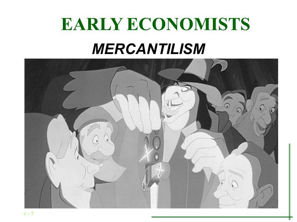 4 - 4 EARLY ECONOMISTS MERCANTILISM