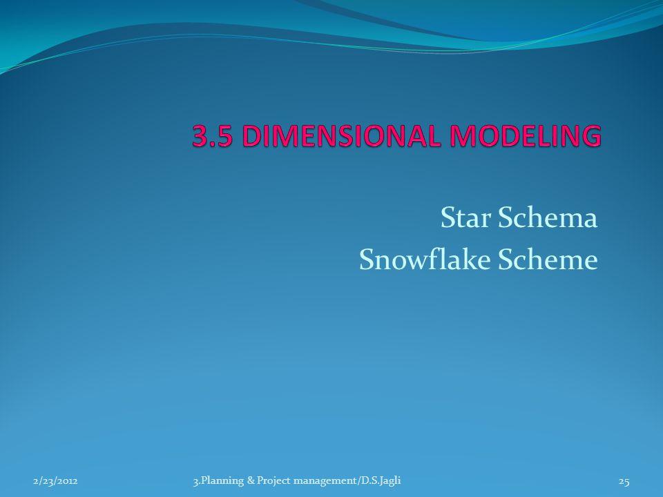Star Schema Snowflake Scheme 3.Planning & Project management/D.S.Jagli252/23/2012