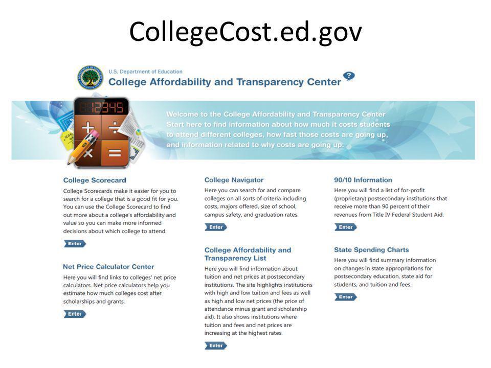 CollegeCost.ed.gov 51