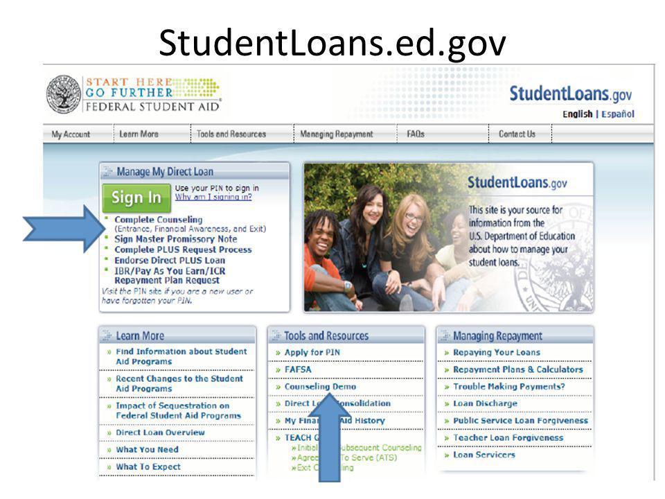 StudentLoans.ed.gov 52