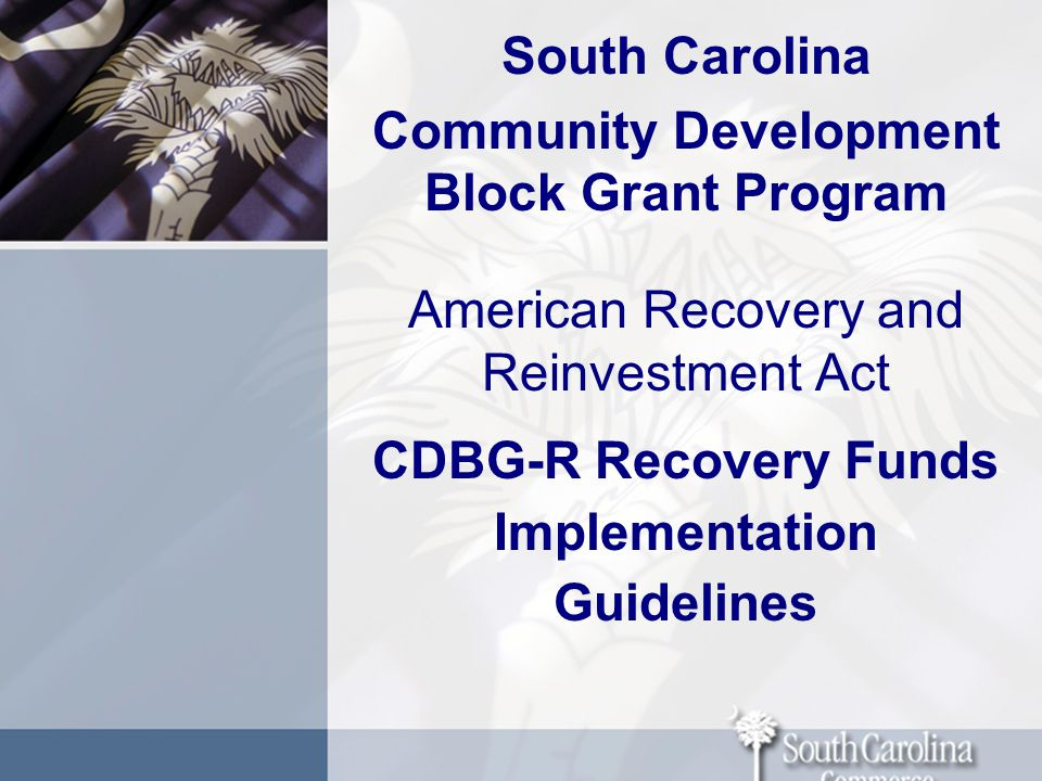 CDBG- R Recovery Program Implementation Requirements