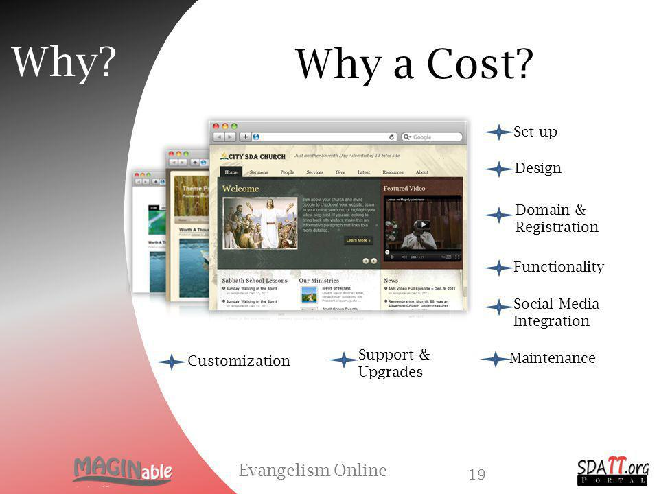 Why a Cost. Evangelism Online 18 Why.