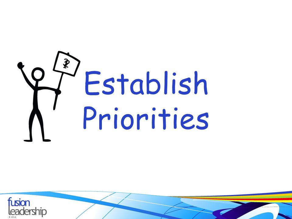 © 2012 Establish Priorities 1 2 3