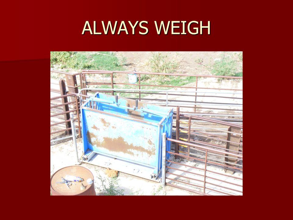 ALWAYS WEIGH