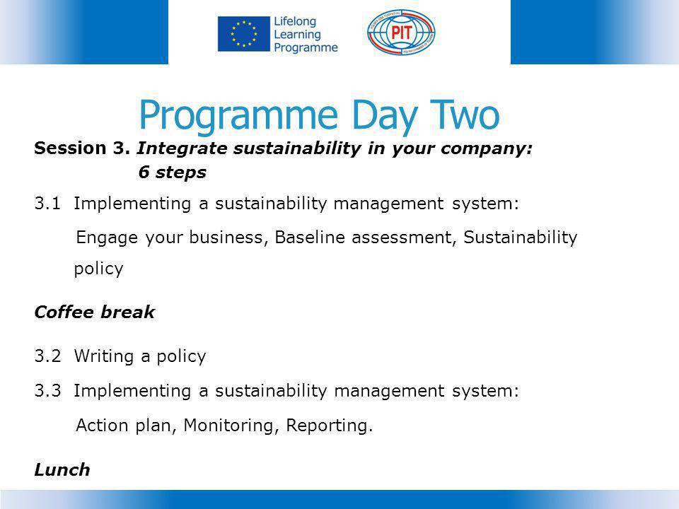 Programme Day Two Session 3.