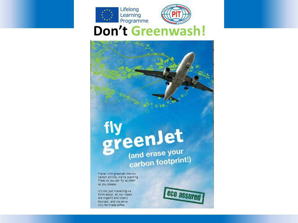 Travel with greenJet the low Carbon airline.