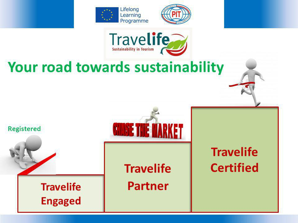 Your road towards sustainability Registered Travelife Engaged Travelife Partner Travelife Certified