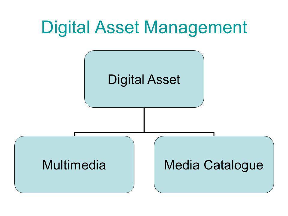 Digital Asset Management Digital Asset MultimediaMedia Catalogue