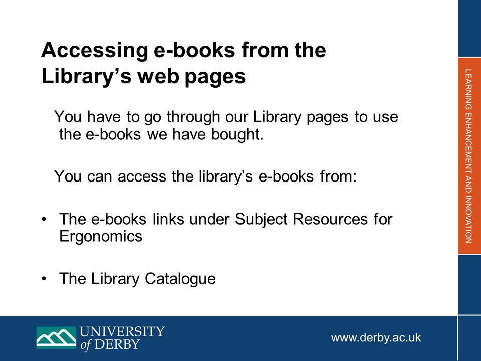An e-book will be identified by eBook or electronic resource.