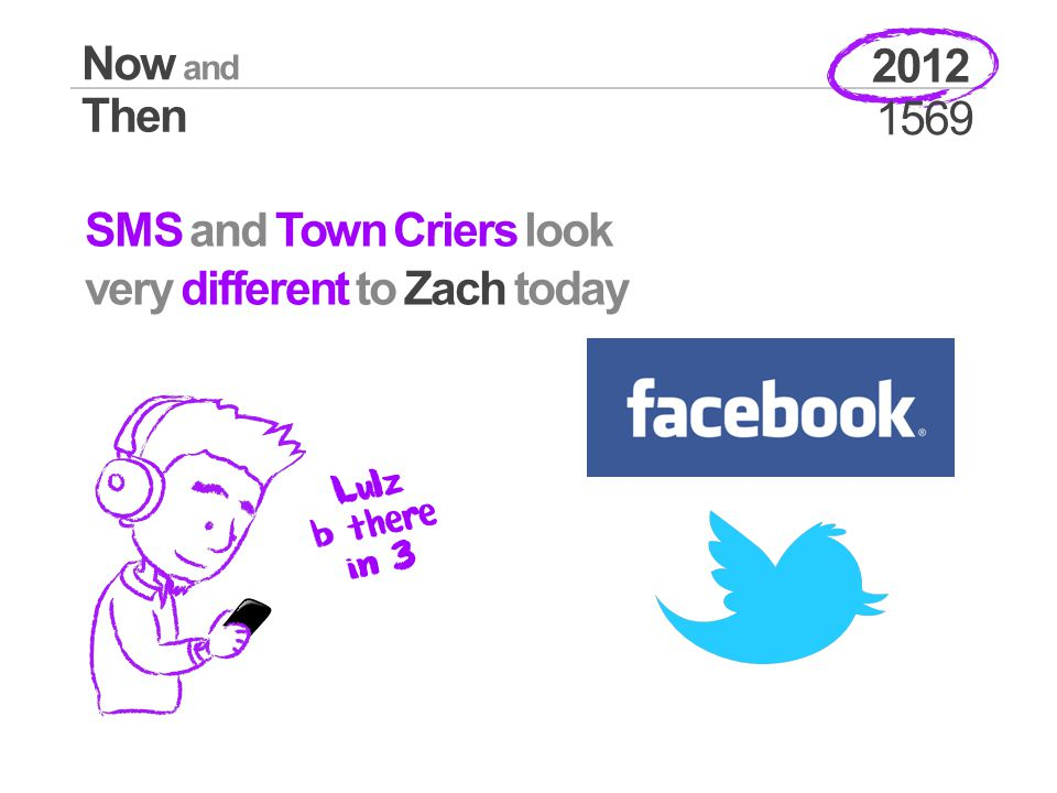 Now and Then 2012 1569 SMS and Town Criers look very different to Zach today Lulz b there in 3