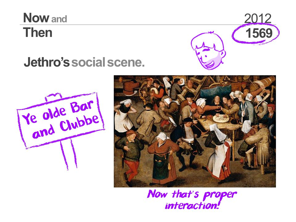 1569 Now and Then 2012 Jethros social scene. Now that s proper interaction!