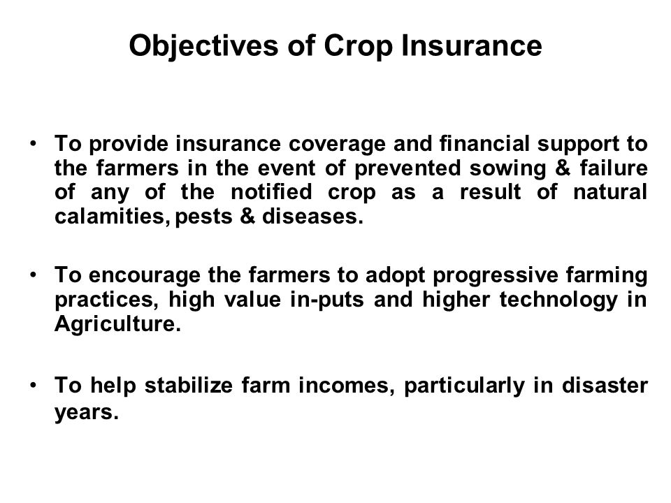 Risks affecting Agriculture production– A Major Challenge Vagaries of weather - rainfall - temperature - humidity - wind - cyclone - hailstorm Pest & diseases Fire Quality of inputs Soil Market prices