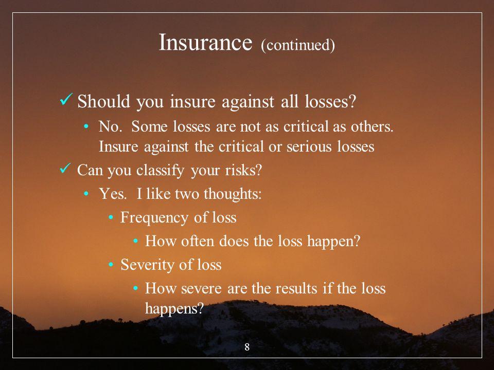 19 III.Who needs Life Insurance. Who needs life insurance.