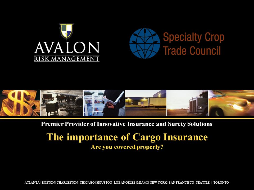 The importance of Cargo Insurance Are you covered properly.