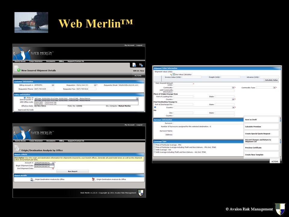 © Avalon Risk Management Web Merlin