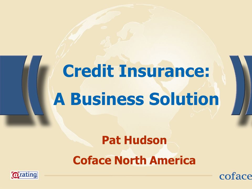 1 Credit Insurance: A Business Solution Pat Hudson Coface North America