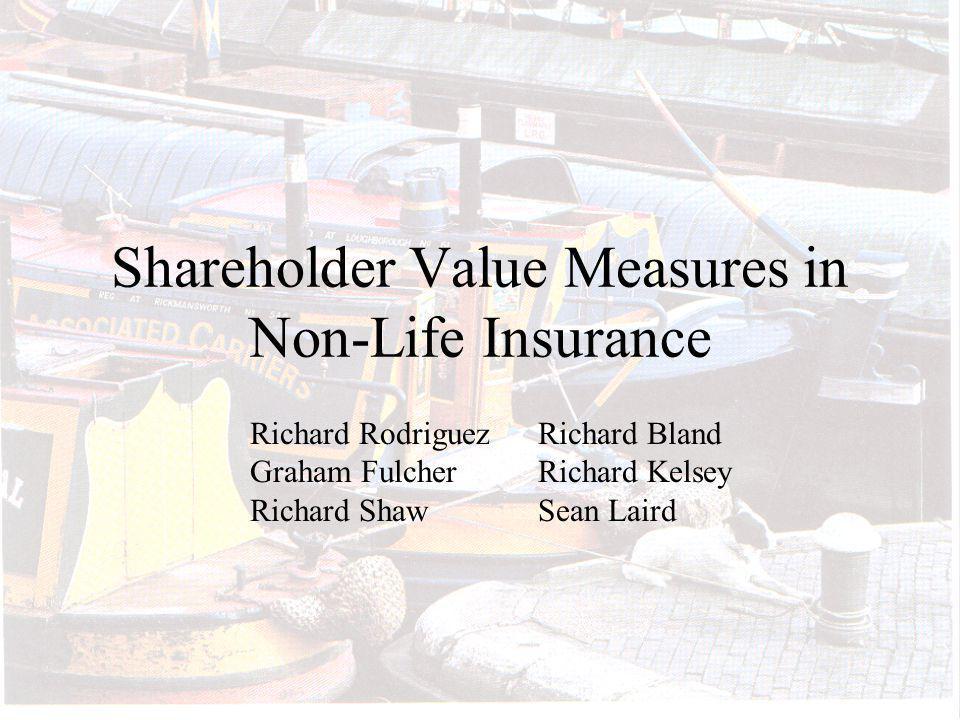 Shareholder Value Measures in Non-Life Insurance Richard RodriguezRichard Bland Graham Fulcher Richard Kelsey Richard ShawSean Laird