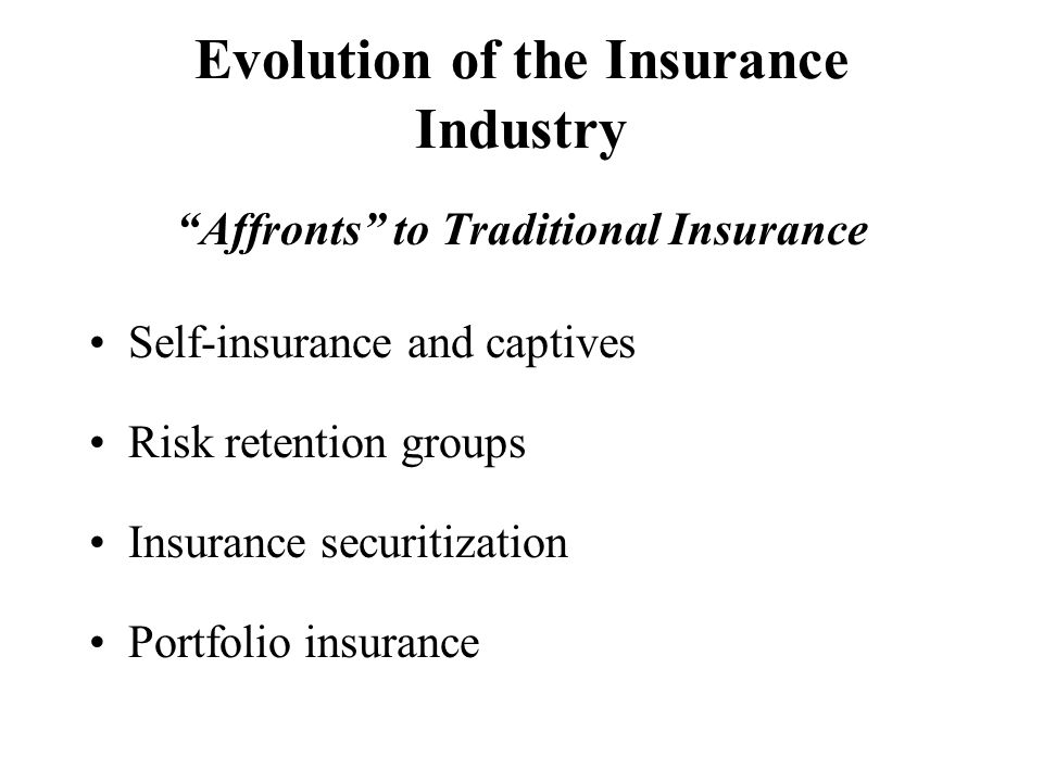 Risks Which P/C Insurers Face Underwriting –Loss experience: frequency and severity –Underwriting cycle –Inflation –Payout patterns –Catastrophes Investment –Interest rate risk –Capital market performance All of these risks can prevent a company from meeting its objectives