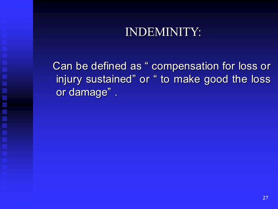 26 ASSIGNMENT Assignment means transfer of rights and liabilities of an insured to another person who had acquired insurable interest in the property