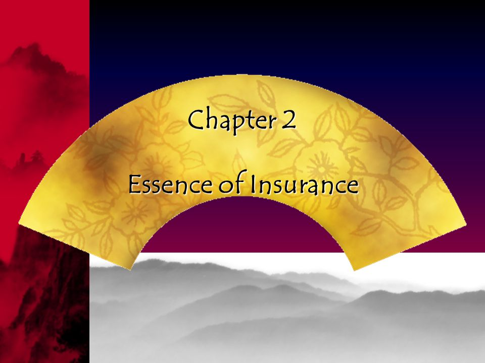 Chapter 2 Essence of Insurance