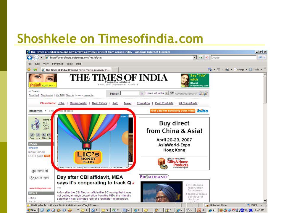 Shoshkele on Timesofindia.com