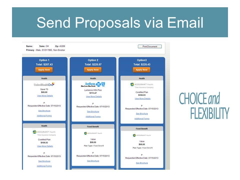 Send Proposals via Email