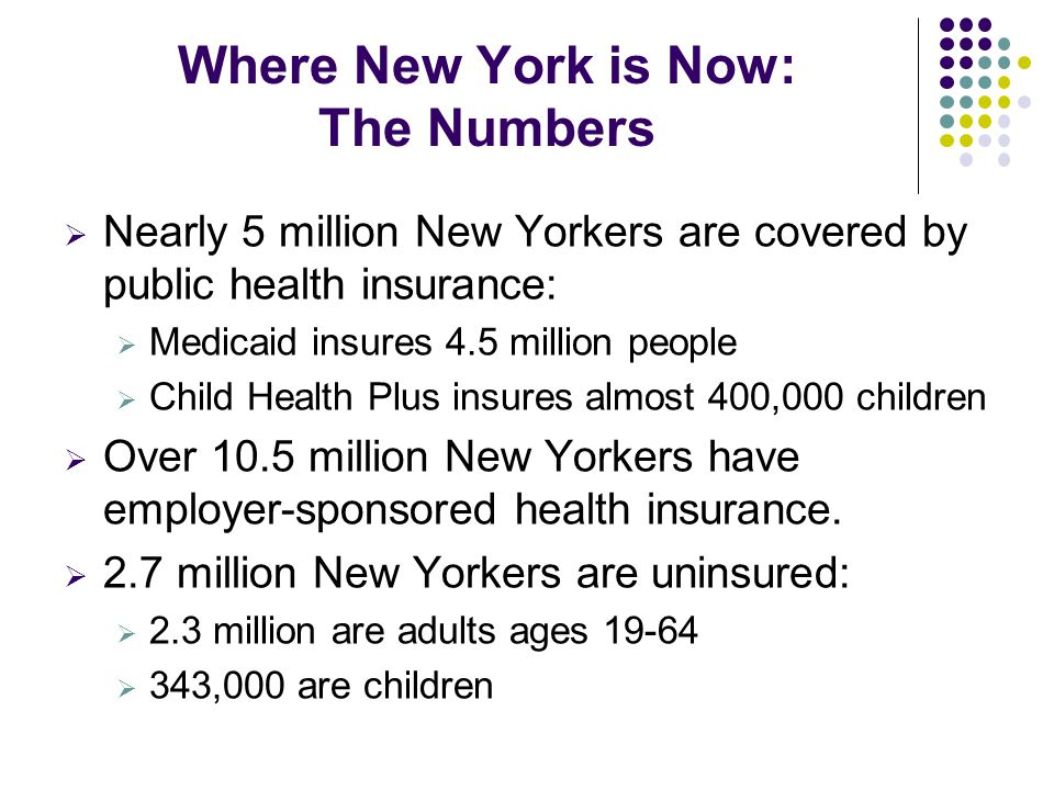 Key Components of HCR: Fiscal Impact for New York HCR estimated to provide about a 1 billion dollar net additional Medicaid benefit to New York in 2014, factoring in the costs of enrolling nearly 1 million additional New Yorkers.