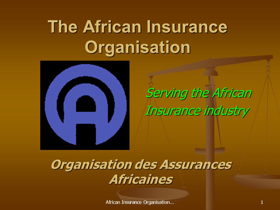 African Insurance Organisation...1 The African Insurance Organisation Serving the African Serving the African Insurance industry Organisation des Assurances Africaines