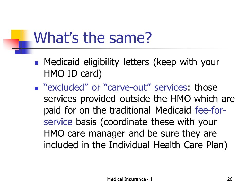Medical Insurance - 126 Whats the same.