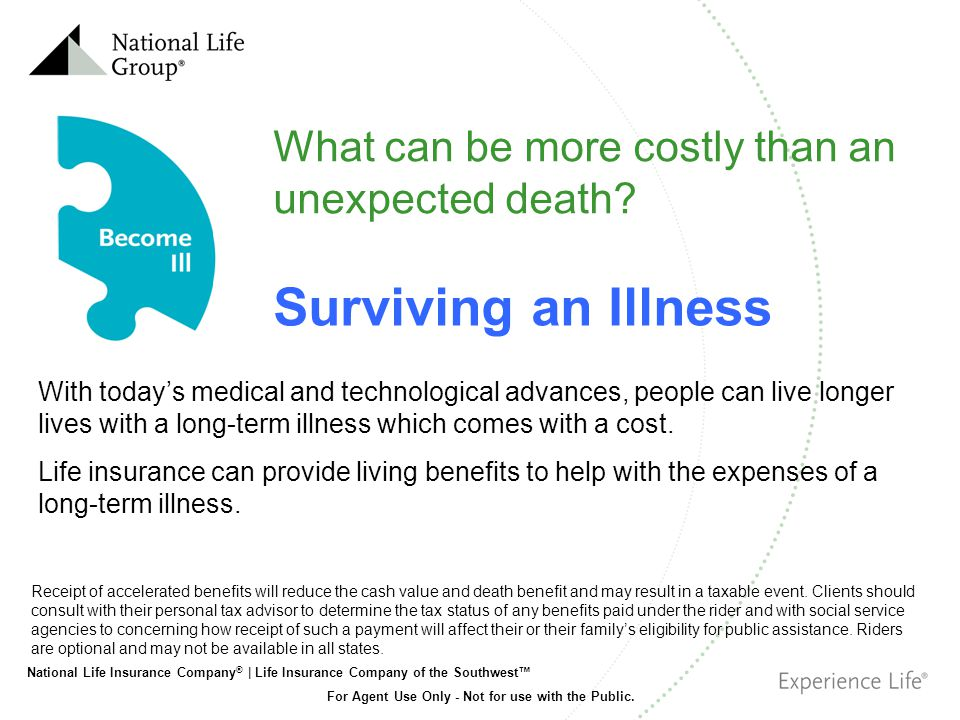 National Life Insurance Company ® | Life Insurance Company of the Southwest For Agent Use Only - Not for use with the Public.