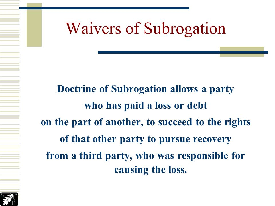 Jeffrey M. Tonks YCPARMIA Waivers Of Subrogation