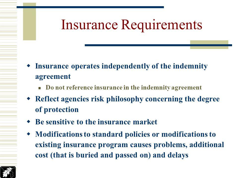 Jeffrey M. Tonks YCPARMIA INSURANCE REQUIREMENTS