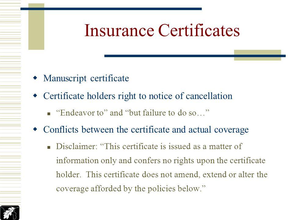 Standard Certificate