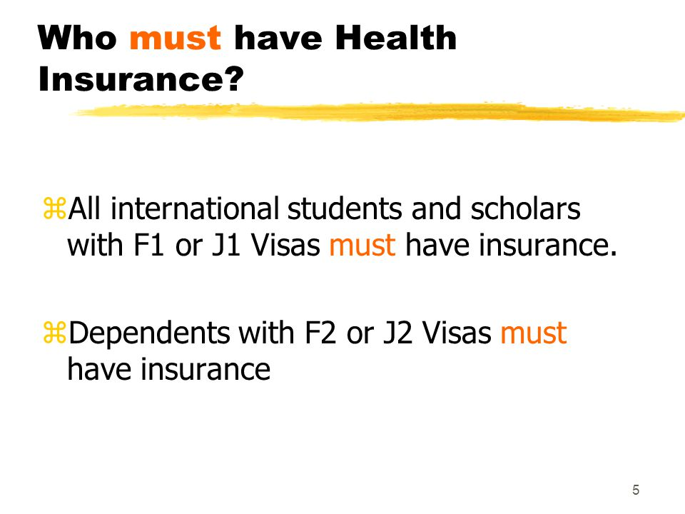 5 Who must have Health Insurance.