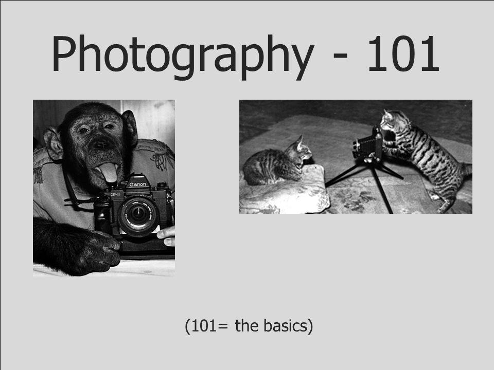 Photography - 101 (101= the basics)