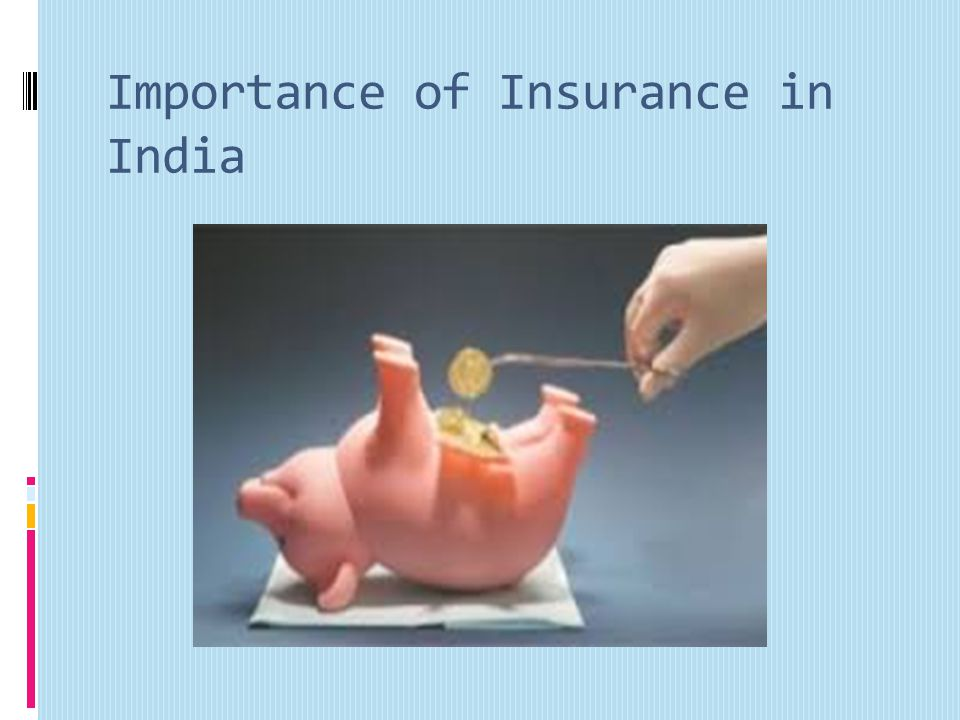 Importance of Insurance in India