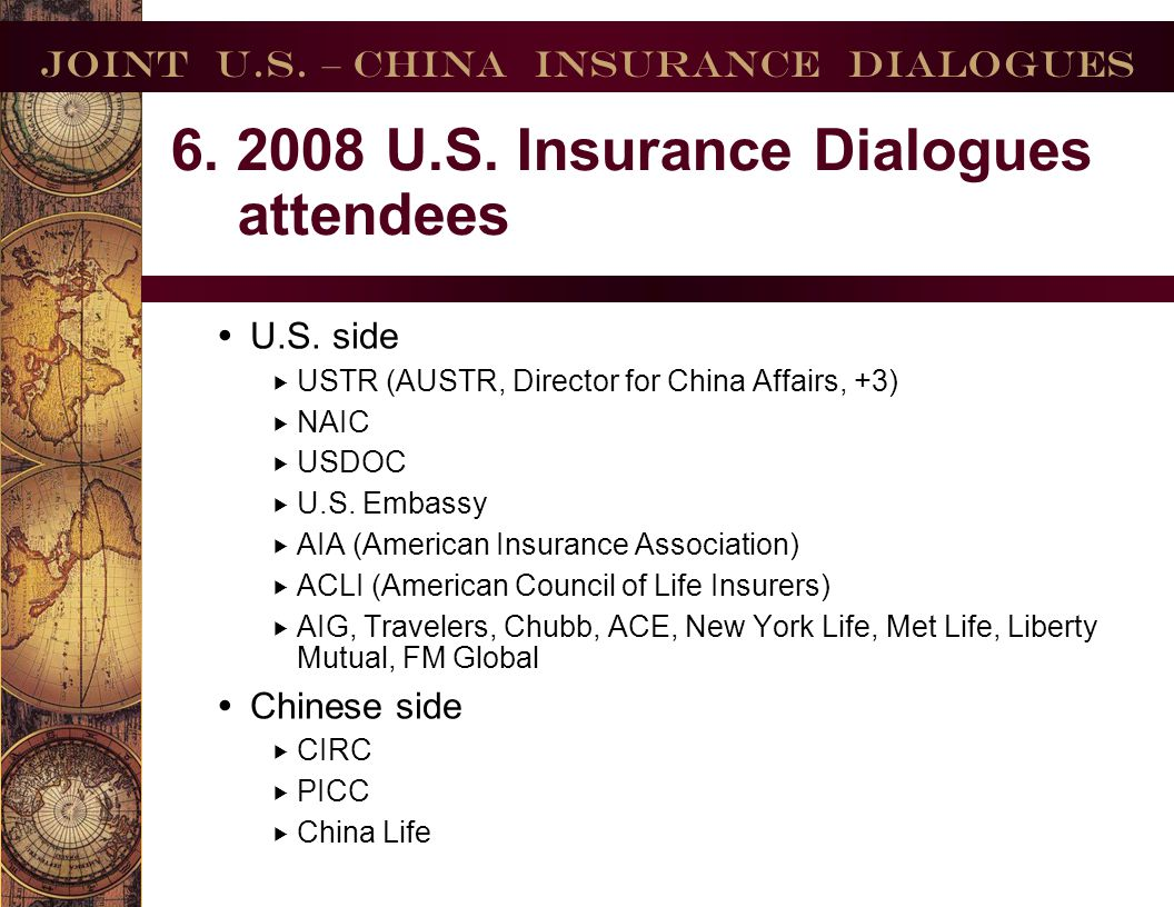 Joint U.S. – China Insurance Dialogues
