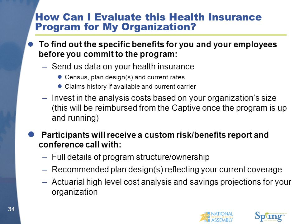 How Can I Evaluate this Health Insurance Program for My Organization.