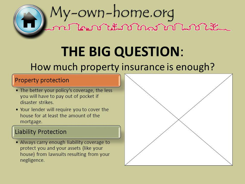 THE BIG QUESTION: How much property insurance is enough.