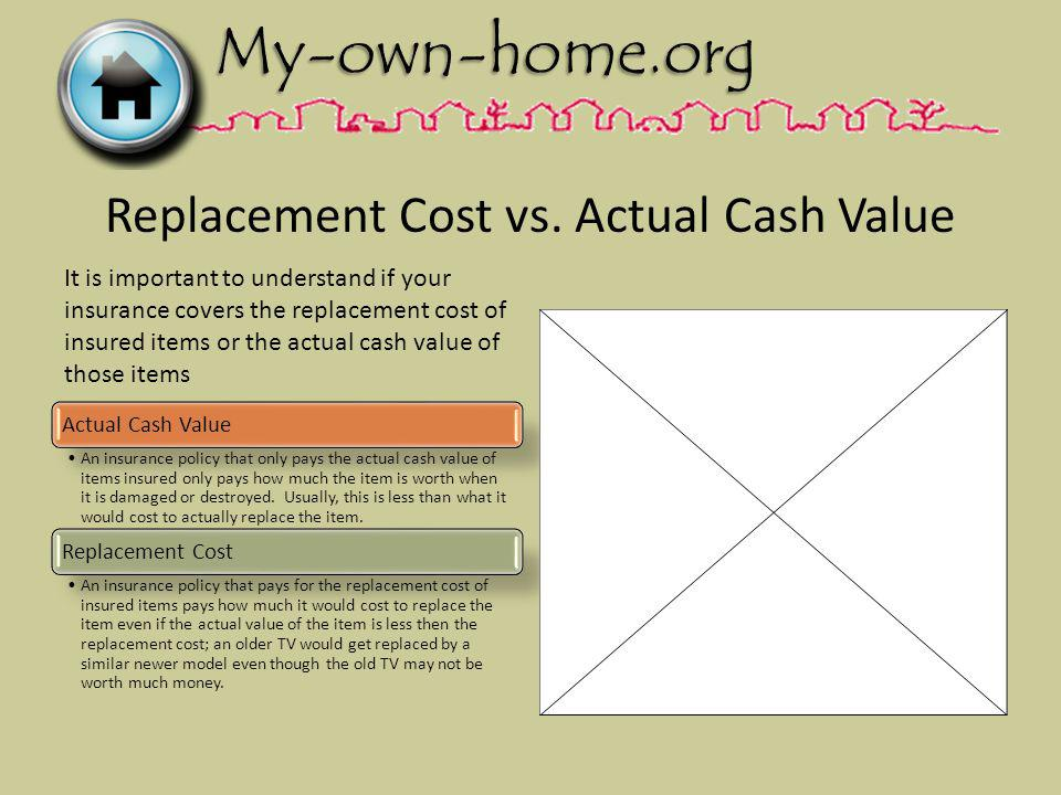 Replacement Cost vs.