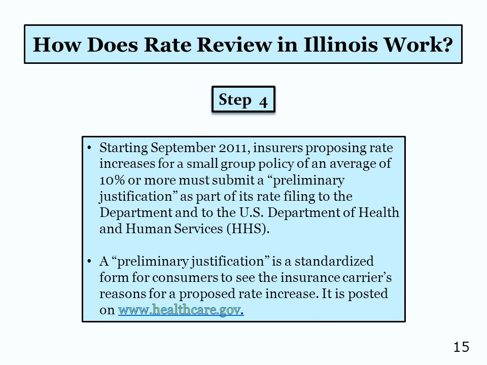 15 How Does Rate Review in Illinois Work Step 4