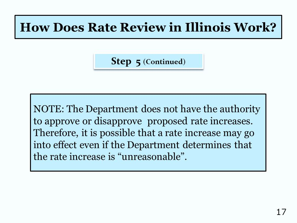 17 How Does Rate Review in Illinois Work.