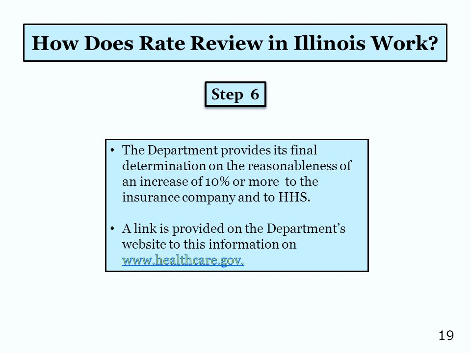19 How Does Rate Review in Illinois Work Step 6