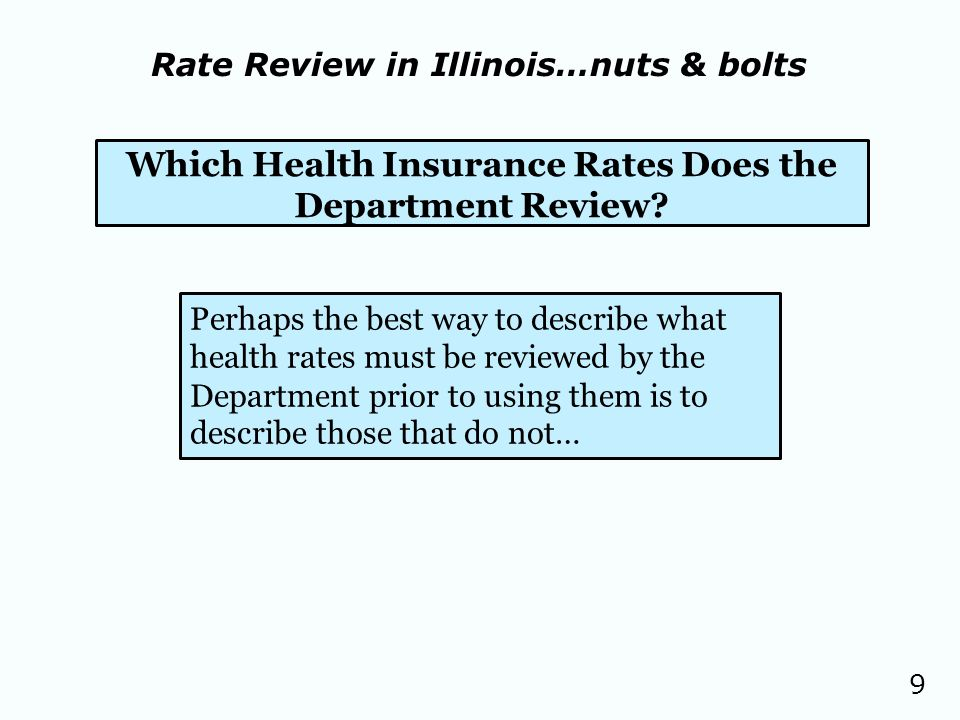 9 Which Health Insurance Rates Does the Department Review.