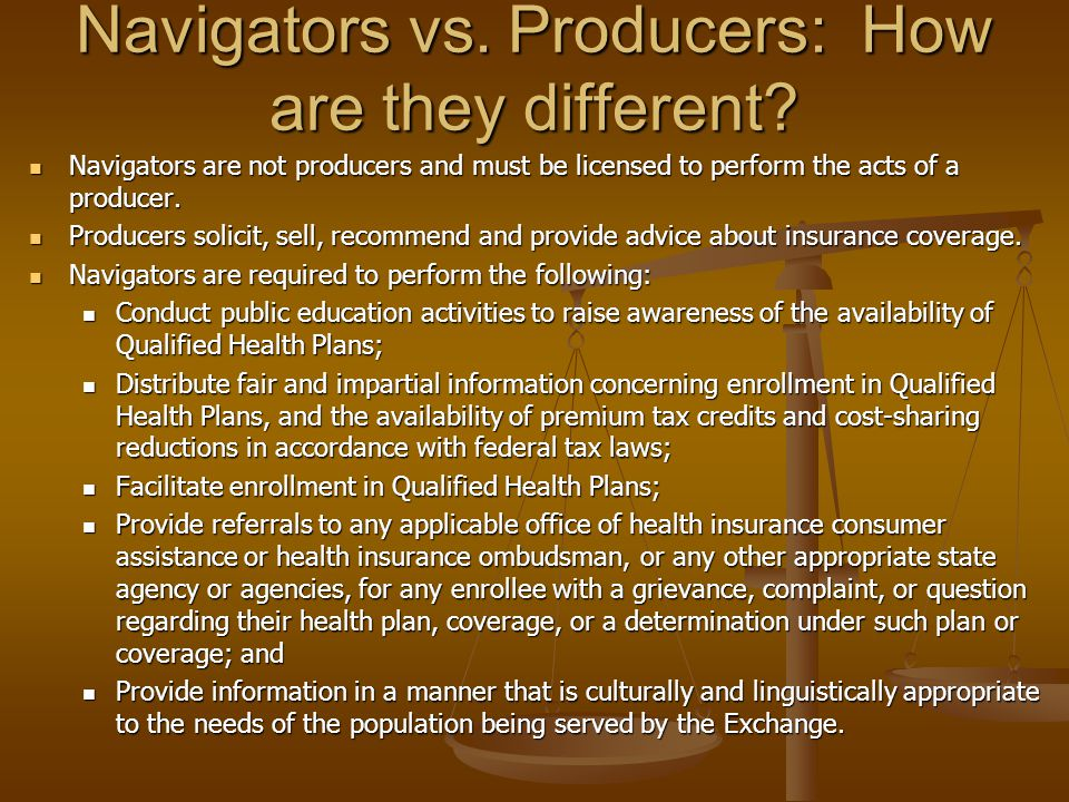 Navigators vs. Producers: How are they different.